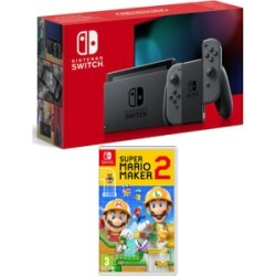 Nintendo Switch Grey (Improved Battery) with Super Mario Maker 2 for Switch found on Bargain Bro UK from game UK
