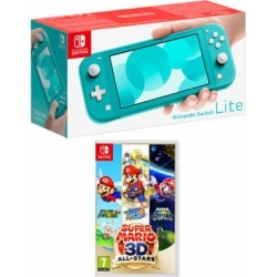 Nintendo Switch Lite - Turquoise + Super Mario 3D All-Stars for Switch