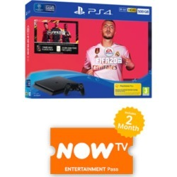 500GB Playstation 4 with FIFA 20 and NOW TV for PlayStation 4
