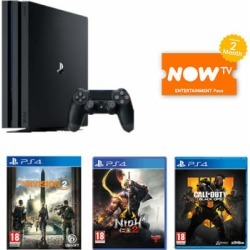 PlayStation 4 Pro 1 TB + Nioh 2 + The Division 2 + Call of Duty: Black Ops 4 +NOW TV for PlayStation 4