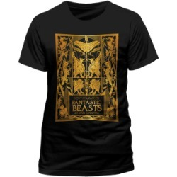 Fantastic Beasts - Book Cover Gold Foil T-Shirt - Large for Clothing and Merchandise