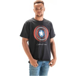 Black Captain America Shield T-Shirt (L) for Clothing and Merchandise