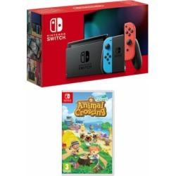 Nintendo Switch - Neon (improved battery) + Animal Crossing: New Horizons for Switch