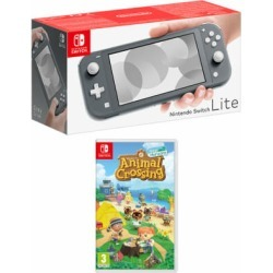 Nintendo Switch Lite - Grey + Animal Crossing: New Horizons for Switch