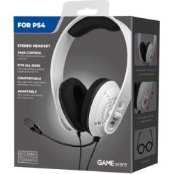 New GAMEware White PS4 Stereo Headset for PlayStation 4