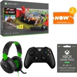1TB Xbox One X Forza Horizon 4 Bundle + Turtle Beach Recon 70X + Wireless Controller + 3 Months Game Pass Ultimate and NOW TV for Xbox One