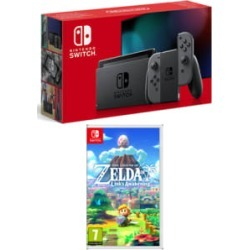Nintendo Switch Grey (Improved Battery) with The Legend of Zelda: Link's Awakening for Switch found on Bargain Bro UK from game UK