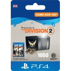 Tom Clancys The Division 2 - 1050 Premium Credits Pack for PlayStation 4