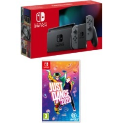 Nintendo Switch Grey (Improved Battery) with Just Dance 2020 for Switch