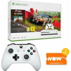 Xbox One S with Forza Horizon 4 + LEGO Expansion + Wireless Controller and NOW TV for Xbox One