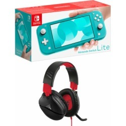 Nintendo Switch Lite - Turquoise + Turtle Beach Recon 70N Black for Switch