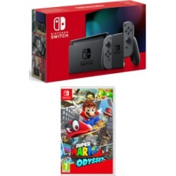 Nintendo Switch Grey (Improved Battery) with Super Mario Odyssey for Switch found on Bargain Bro UK from game UK