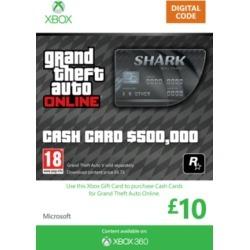 GTA Online Bull Shark Cash Card - $500,000 (Xbox 360) for Xbox 360 found on Bargain Bro UK from game UK