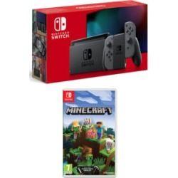 Nintendo Switch Grey (Improved Battery) with Minecraft for Switch