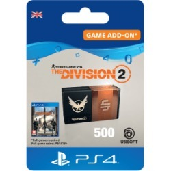 Tom Clancys The Division 2 - 500 Premium Credits Pack for PlayStation 4