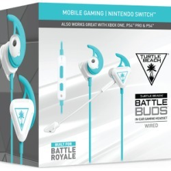 Turtle Beach Battle Buds In-Ear Gaming Headset for Mobile Gaming, Nintendo Switch, Xbox One & PS4 - White/Teal for PlayStation 4