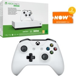 1TB Xbox One S All Digital Edition + White Wireless Controller and NOW TV for Xbox One