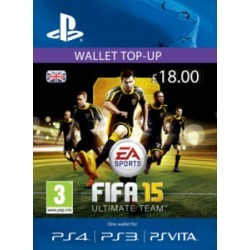 FIFA 15 Ultimate Team Wallet £18 Top Up for PlayStation 3