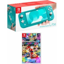 Nintendo Switch Lite Turquoise with Mario Kart 8 Deluxe for Switch