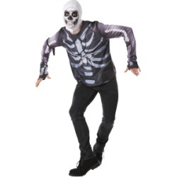 Skull Trooper Fortnite Halloween Costume - Child - M for Clothing and Merchandise