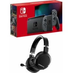 Nintendo Switch - Grey (improved battery) with Steelseries Arctis 1 Wireless Headset for Switch found on Bargain Bro UK from game UK