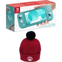 Nintendo Switch Lite - Turquoise + Official Nintendo Mario Beanie for Switch
