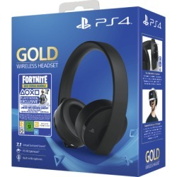Sony PS4 Gold 7.1 Wireless Gaming Headset - Fortnite Neo Versa Bundle for PlayStation 4