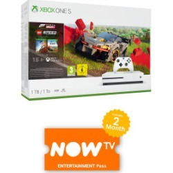 1TB Xbox One S with Forza Horizon 4 + LEGO Expansion and NOW TV for Xbox One