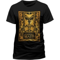 Fantastic Beasts - Book Cover Gold Foil T-Shirt - XL for Clothing and Merchandise