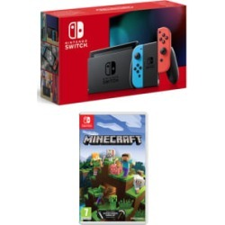 Nintendo Switch Neon (Improved Battery) with Minecraft for Switch found on Bargain Bro UK from game UK