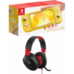 Nintendo Switch Lite - Yellow + Turtle Beach Recon 70N Black for Switch