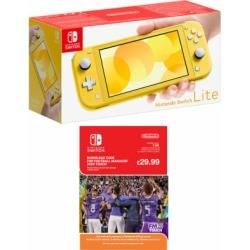 Nintendo Switch Lite - Yellow with Football Manager Touch 2020 for Switch found on Bargain Bro UK from game UK
