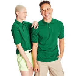 Hanes Men's Cotton-Blend EcoSmart Jersey Polo Kelly Green S found on Bargain Bro India from Hanes Underwear for $7.00