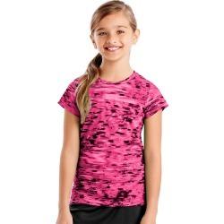 Hanes Sport Girls' Speed Dash Performance Tee Dash/Pink Extreme XS