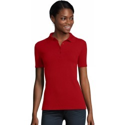 Hanes Women's FreshIQ X-Temp Pique Polo Deep Red 2XL found on Bargain Bro India from Hanes Underwear for $12.00