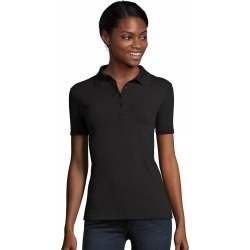 Hanes Women's FreshIQ X-Temp Pique Polo Black L found on Bargain Bro Philippines from Hanes Underwear for $12.00