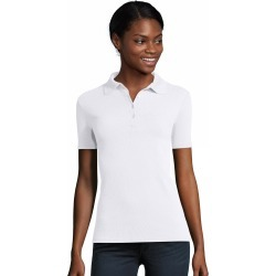 Hanes Women's FreshIQ X-Temp Pique Polo White L found on Bargain Bro Philippines from Hanes Underwear for $12.00