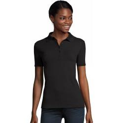 Hanes Women's FreshIQ X-Temp Pique Polo Black L found on Bargain Bro India from Hanes Underwear for $12.00