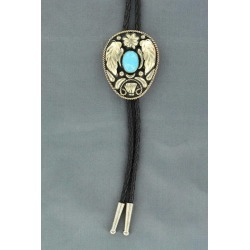 Double S Leaf Bolo Tie