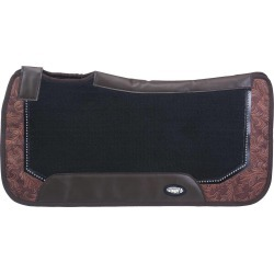 Tough-1 Air Flow Shock Absorber PVC Saddle Pad - Tooled Leather Print found on Bargain Bro India from horseloverz.com for $40.99
