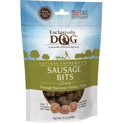 Exclusively Dog Chewy Sausage Bits Dog Treats