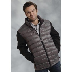 Roper Mens Down Fill Softshell Sleeve Jacket - Grey found on Bargain Bro India from horseloverz.com for $84.99