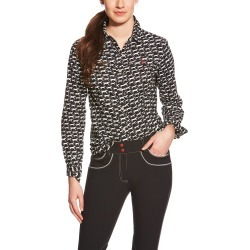 Ariat Ladies Lilla Classic Button Down Shirt - Black found on Bargain Bro India from horseloverz.com for $42.00