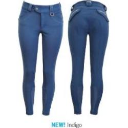 FITS Ladies Hannah Printed Full Seat Breeches - Indigo