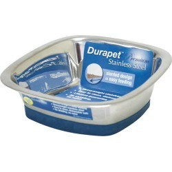 Durapet Square Bowl Cat Dish