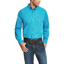 Ariat Men's Laketon Long Sleeve Print - Deep Aqua found on Bargain Bro India from horseloverz.com for $21.19