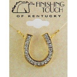 Finishing Touch Horseshoe Channel with  Stones Necklace found on Bargain Bro India from horseloverz.com for $19.99