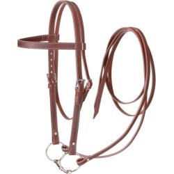 Tough-1 Western Leather Browband Draft Bridle found on Bargain Bro India from horseloverz.com for $64.99