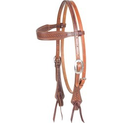 Martin Saddlery Antiqued Tooled Mini Basket Browband Headstall found on Bargain Bro Philippines from horseloverz.com for $129.99