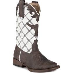 Roper Kids Steerhead Square Toe Fashion Cowboy Boots